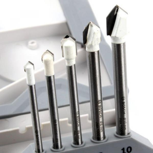 New Bosch CYL-9 Ceramic Tile Drill Bit Set 5Piece Glass Tools Accessories Bits #3 image