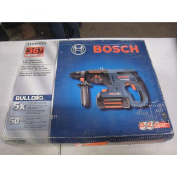 "Bosch 11536VSR 36V Li-Ion 1""  Cordless Rotary Hammer Drill New Free Shipping #1 image"