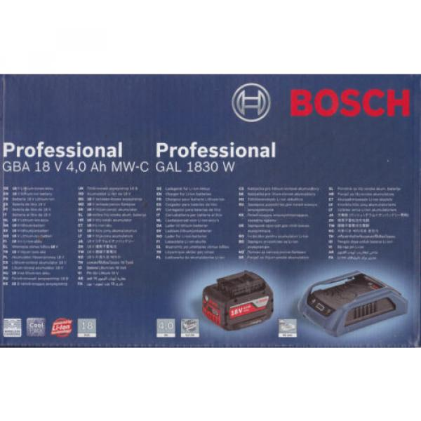 Bosch Set WIRELESS batteria 18V 4 Ah + CARICABATTERIE WIRELESS GAL 1830 W boch #2 image