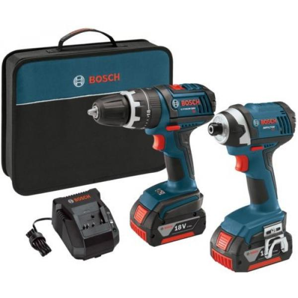 Bosch 18-Volt Lithium Ion (Li-ion) Cordless Combo Kit with Soft Case #1 image
