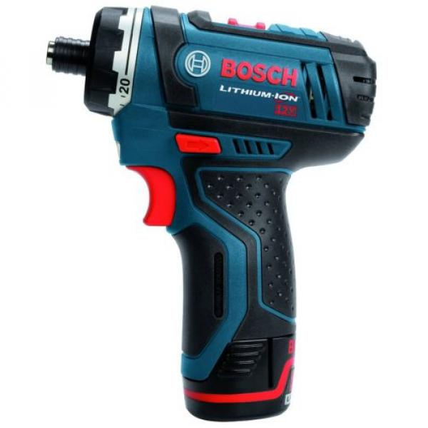 Cordless Lithium-Ion 2-Speed Pocket Drill Driver Kit Bosch PS21-2A 12-Volt Max #4 image