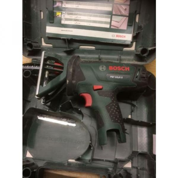 Bosch PST 10.8 Li Bare Unit With Case And Spare Blades. Jigsaw. #8 image