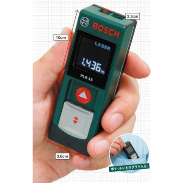 Digital Laser Rangefinder PLR15 Bosch from Japan New #4 image