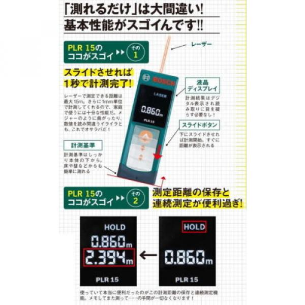 Digital Laser Rangefinder PLR15 Bosch from Japan New #5 image