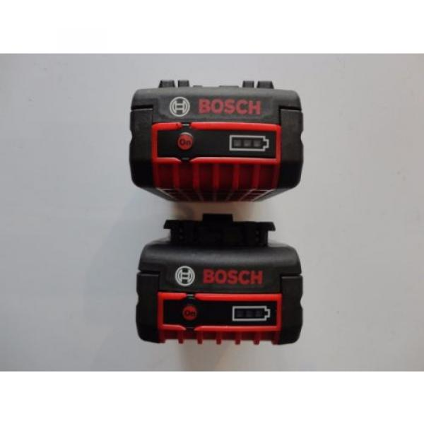 BOSCH BAT620 X 2 18V 18 Volt Lithium Ion 4.0 AH FatPack Battery #3 image