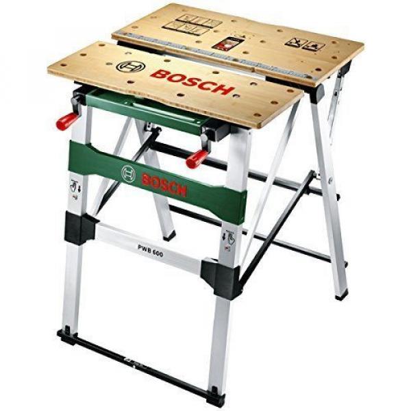 Mesa de trabajo Bricolage Bosch PWB 600 Con Mordazas de Sujección Aguante 200 Kg #2 image