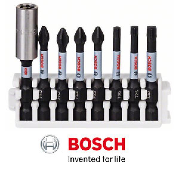 BOSCH IMPACT CONTROL 8 PIECE PH2/PZ2/T20/T25/T30 SCREWDRIVER BIT SET #1 image