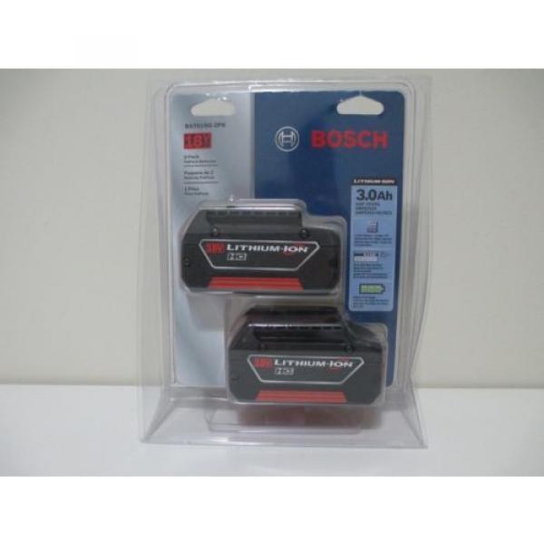 Bosch BAT619G 18V 3.0Ah Lithium-Ion FatPack Battery (2 Pack) #1 image