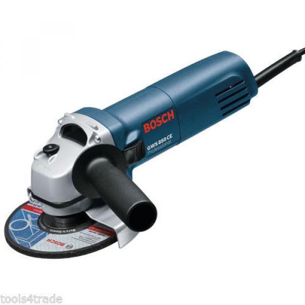 Bosch GWS850 Angle Grinder With Diamond Blade 240V + 10 Thin Metal Inox Disc #2 image
