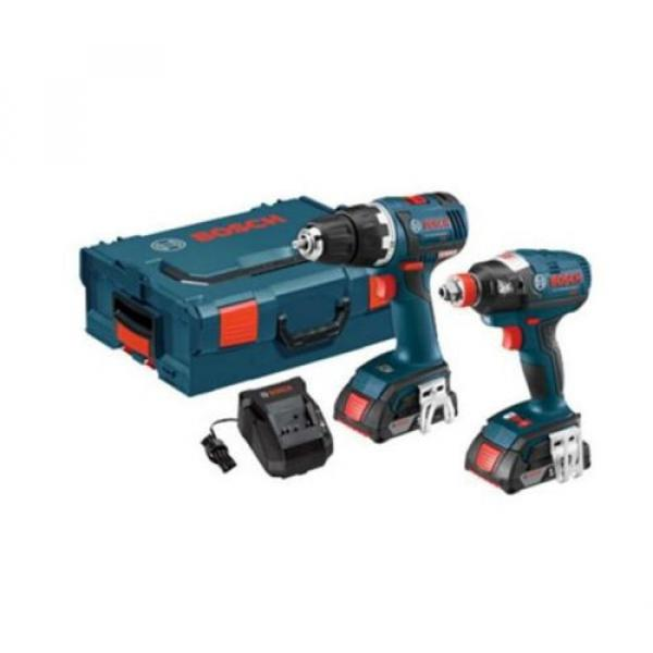 Bosch 18-Volt Lithium Ion (Li-ion) Brushless Motor Cordless Combo Kit Hard Case #1 image