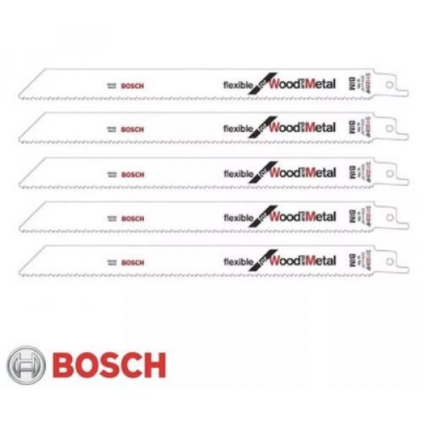 Bosch S1122HF reciprocating saw blades shark sabre wood metal recipro Pack of 5 #1 image