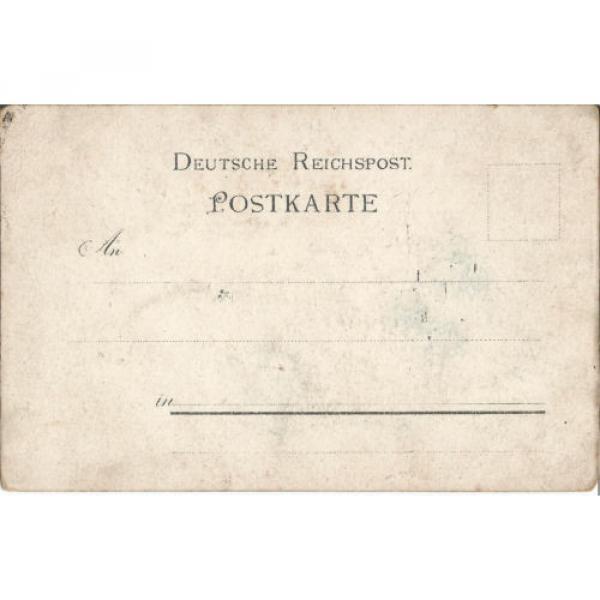 Leubnitz bei Werdau, Gasthaus zur Linde-Paul Sieler, Litho-Ansichtskarte um 1900 #2 image