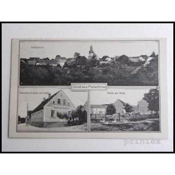 AK Gruß aus Punschrau Schankwirtschaft zur Linde Teich ungelaufen um 1920 #1 image