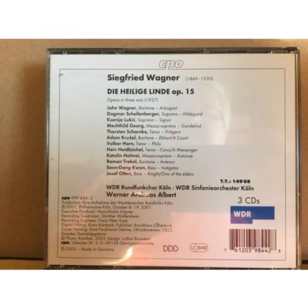 Siegfried Wagner, Die Heilige Linde 3 CD Fat Box Set, Koln, Albert #2 image