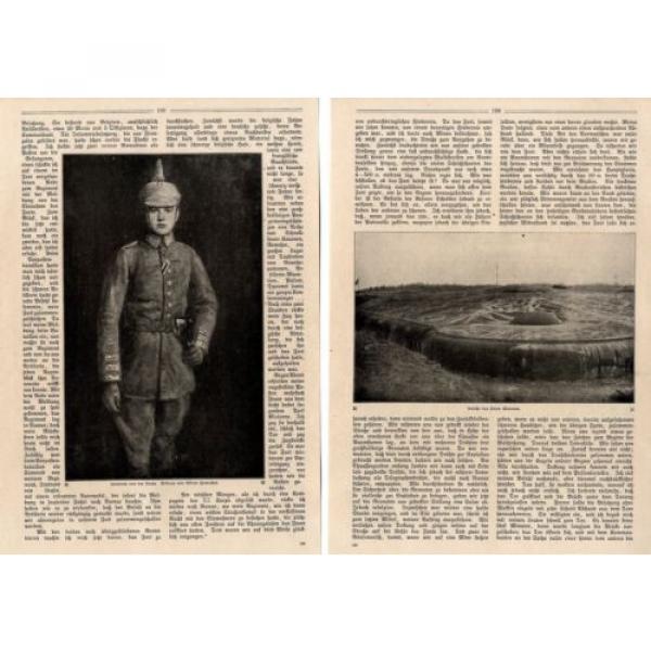 Leutnant von der Linde ( Eroberer von Fort Malonne ) Foto-Bericht c.1917 #2 image