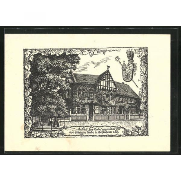 schöne Künstler-AK Geisenheim, Hotel zur Linde v. Chr. Wollmann 1936 #1 image