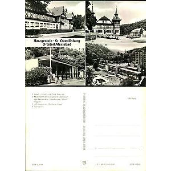 Postkarte41726 - Harzgerode - 4 Ansichten - Hotel Linde und Cafe Exquisit - Reic #1 image
