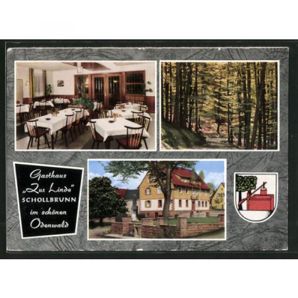 tolle AK Schollbrunn, Gasthaus Zur Linde, Hausansicht, Speiseraum, Waldpartie #1 image