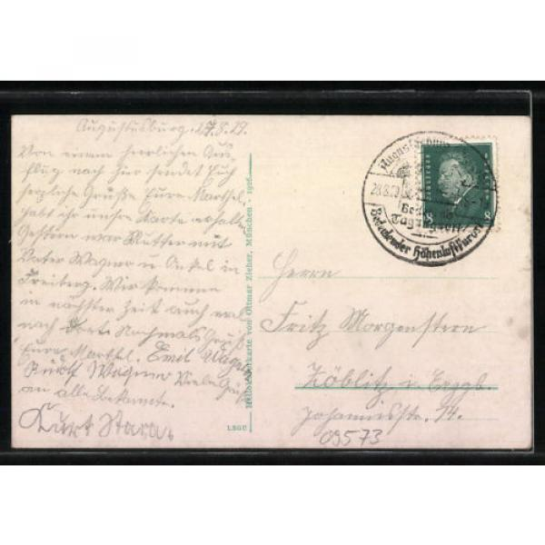 tolle AK Augustusburg, Schloß, Linde, Totalansicht 1929 #2 image
