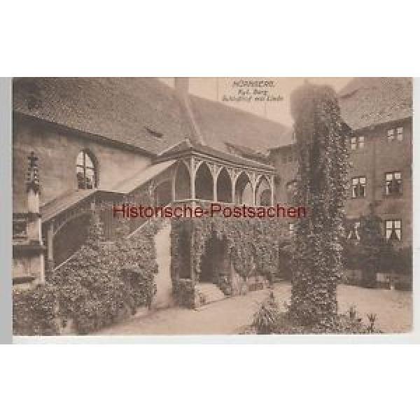 (74208) AK Nürnberg, Kgl. Burg, Schloßhof mit Linde, 1920 #1 image