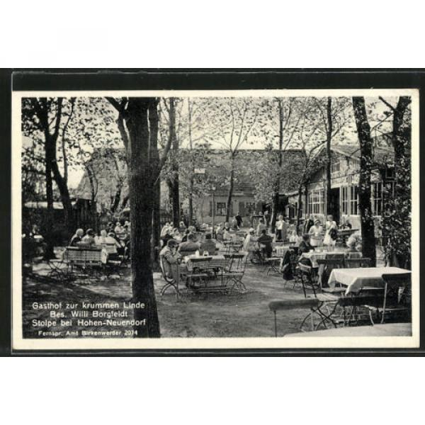 tolle AK Stolpe, Gasthof zur krummen Linde, Gartenlokal #1 image