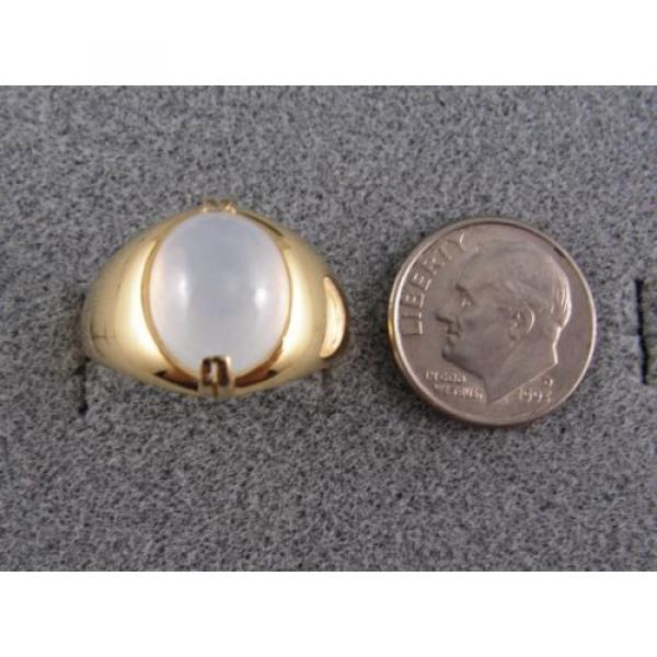 PMP LINDE LINDY TRANS WHITE STAR SAPPHIRE CREATED RING YELLOW GOLD PLATE .925 SS #4 image