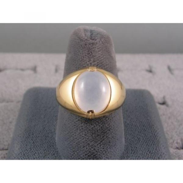PMP LINDE LINDY TRANS WHITE STAR SAPPHIRE CREATED RING YELLOW GOLD PLATE .925 SS #5 image