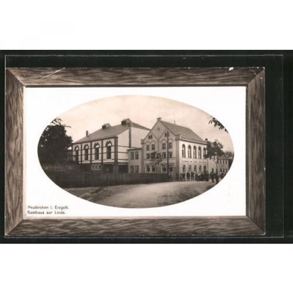 tolle Präge-AK Neukirchen, Partie am Gasthaus zur Linde 1921 #1 image