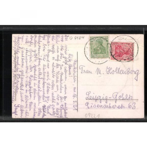 tolle Präge-AK Neukirchen, Partie am Gasthaus zur Linde 1921 #2 image