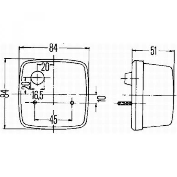 HELLA Heckleuchte Rücklicht links, rechts #2 image