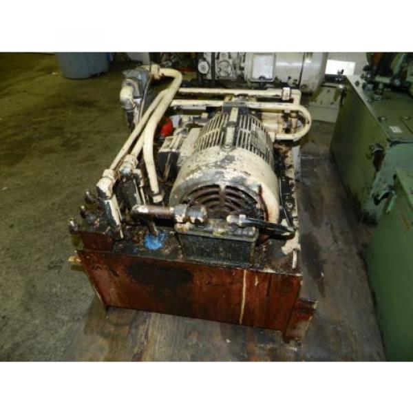 Nachi 3 HP Oil Hydraulic Unit, Nachi Variable Vane Pump VDR-11B-1A2-1A2-22, Used #6 image