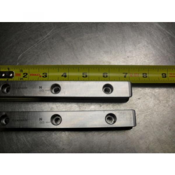 qty 2 - Rexroth 7873 16Q01 Linear Bearings Rail Guild 175MM long x 23MM wide #1 image