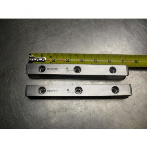 qty 2 - Rexroth 7873 16Q01 Linear Bearings Rail Guild 175MM long x 23MM wide #3 image