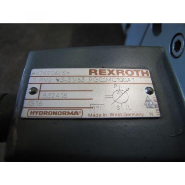 REXROTH Italy Russia 1PV2V3-31/63RG01MC100A1 1PV2V4-20/32RE01MC0-16A1 VANE HYDRAULIC PUMP #3 image