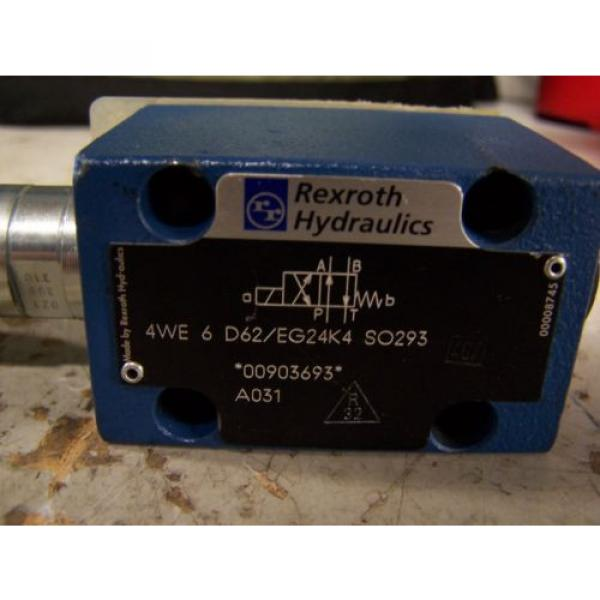 NEW Italy Germany REXROTH 4WE 6 D62/EG24K4 SO293 HYDRAULIC DIRECTIONAL VALVE #4 image