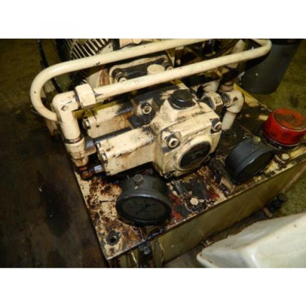 Nachi 3 HP Oil Hydraulic Unit, Nachi Variable Vane Pump VDR-11B-1A2-1A2-22, Used #3 image