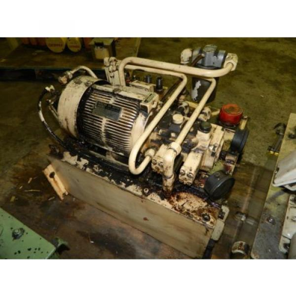 Nachi 3 HP Oil Hydraulic Unit, Nachi Variable Vane Pump VDR-11B-1A2-1A2-22, Used #4 image