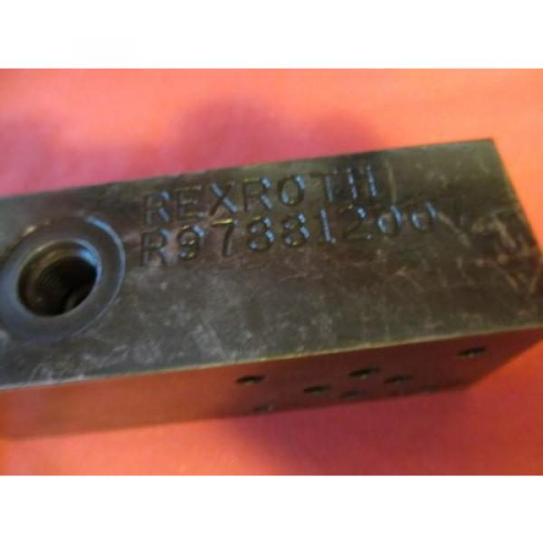 Rexroth Singapore Mexico R978812007 Hydraulic Valve Assembly #2 image