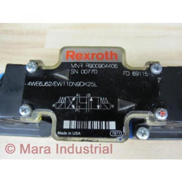 Rexroth Australia Canada Bosch R900904406 Valve 4WE6J62/EW110N9DK25L - New No Box #2 image