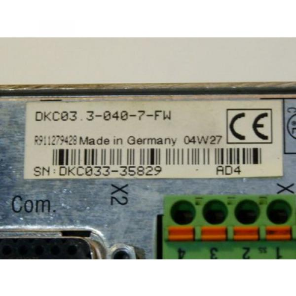 Rexroth Korea Canada Indramat DKC03.3-040-7-FW Eco-Drive Frequenzumrichter Serien Nr. DKC033- #4 image