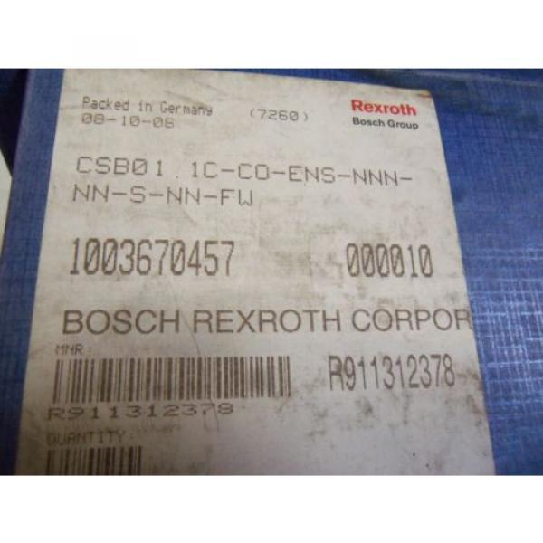 REXROTH India Canada CSB01-1C-CO-ENS-NNN-NN-S-NN-FW CONTROL MODULE R911312378 *NEW IN BOX* #2 image