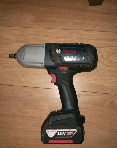 Bosch GDS 18 V-LI HT High Torque Impact Wrench inc 1x 4Ah Battery