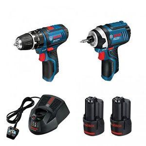 Bosch 12V GSB + 12V GDR  Impact Driver Drill Kit 2 x 2.0Ah in L-BOXX