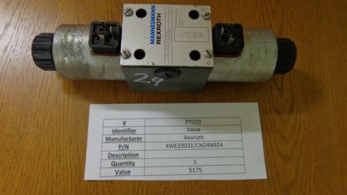 Rexroth China Japan Hydraulic Solenoid Valve 4WE10031/CH24N924 PT029