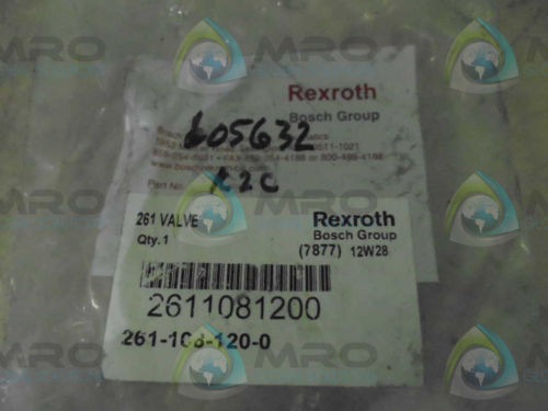 REXROTH Singapore Germany 261-108-120-0 *NEW IN BOX*