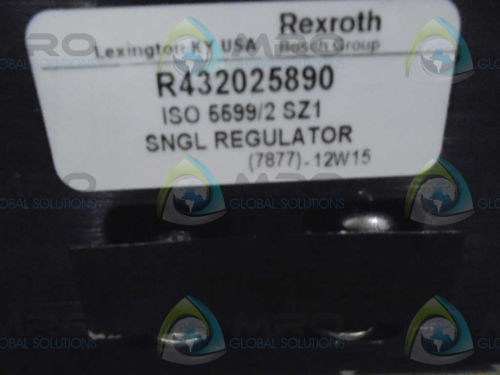 REXROTH Russia Canada R432025890 SNGL REGULATOR  *NEW AS IS*
