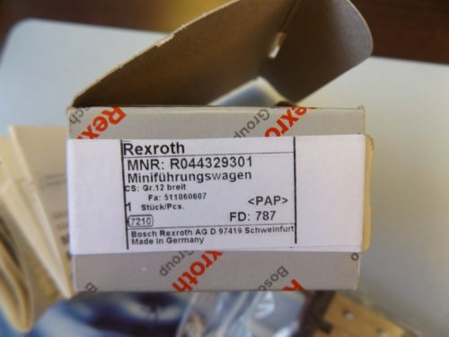 WHOLESALE Italy Mexico LIQUIDATION PLC REXROTH MINI BALL RAIL SYSTEM R044329301 NEW IN BOX