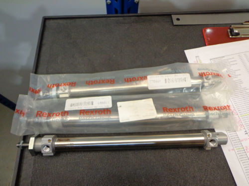 Lot Egypt Dutch of 3 Rexroth Bosch Double-Acting Piston Cylinder 0822333508000