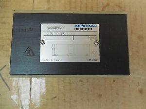 Rexroth/Mannesmann Germany Canada Hydraulic Manifold Block Valve Z1S 10 T3-32/V Z1S10T332V New