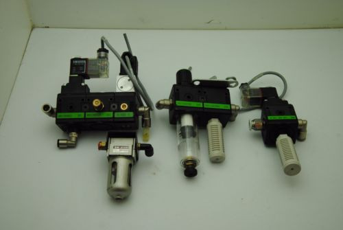 Rexroth Italy Russia Pneumatic Pressure Regulator/Exhaust Assembly/Filter Regulators-LOT OF 4